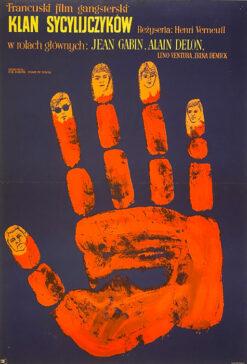 """plakat filmowy """"Klan Sycylijczyków"""", Marian Stachurski"""