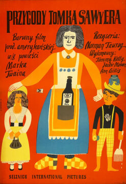 """Plakat filmowy """"Przygody Tomka Sawyera"""" Marian Stachurski"""