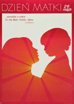 Polska szkoła plakatu, plakat okolicznościowy, Dzień Matki, Krystyna Żmijewska