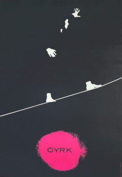 "polish school of poster, circus poster ""Linoscope"", Marek Freudenreich"
