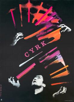 """plakat cyrkowy """"Zongler"""" Rosław Szaybo"""