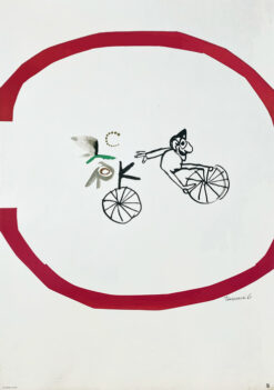 "Polish school of poster, circus poster ""Cyrk - Bicycle"" Henryk Tomaszewski"