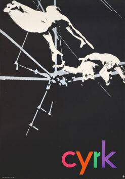 "polish school of poster, circus poster ""acrobats"" Jerzy Treutler"