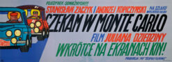 """polska szkoła plakatu, plakat filmowy """"Czekam w Monte Carlo"""", Andrzej Krajewski"""