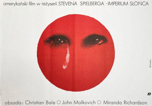 """polska szkoła plakatu, plakat filmowy """"Imperium słońca"""" Andrzej Pągowski"""