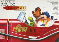 """Polska szkoła plakatu, plakat filmowy """"Muppety jadą do Hollywood"""", Andrzej Pągowski"""