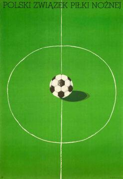"""polska szkoła plakatu, plakat sportowy """"Polski związek Piłki Nożnej"""", 1974"""