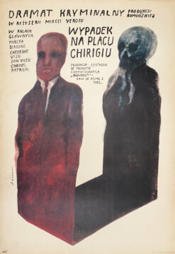 "Polish school of poster, Vintage movie poster PRL  ""Wypadek na placu Chirigiu"", Wiktor Sadowski"