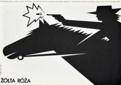 """polska szkoła plakatu, plakat filmowy """"Żółta róża"""" Mieczysław Wasilewski"""