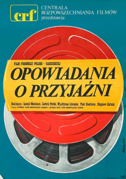 """Polska szkoła plakatu, plakat filmowy vintage PRL """"Opowiadania o przyjaźni"""", Jakub Erol, 1975"""