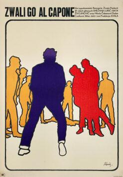 """Polska szkoła plakatu, plakat filmowy vintage PRL """"Zwali go Al Capone"""" Marek Freudenreich, 1067"""