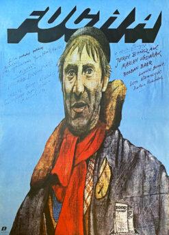 """polska szkoła plakatu, plakat filmowy vintage PRL """"Fucha"""", Andrzej Pągowski"""