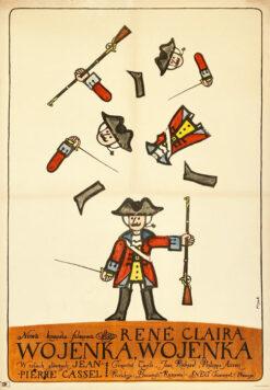 "Polish school of poster, Vintage movie poster PRL ""Wojenka, Wojenka"", proj. Jerzy Flisak, 1967"