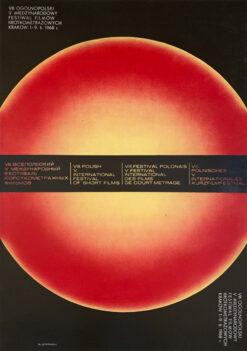 """Polish school of poster, Vintage movie poster PRL """"8 festiwal filmów krótkometrazowych w krakowie"""", Mieczysław Górowski, 1968"""