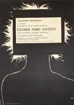 "Polish school of poster, Vintage movie poster PRL ""Dziennik panny służącej"", proj. Julian Pałka, 1965"