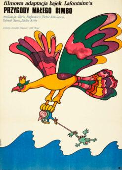 """Polska szkoła plakatu, plakat filmowy vintage PRL """"Przygody małego Bimbo"""", proj. Marian Stachurski, 1972"""