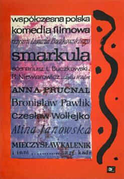 """Polish school of poster, Vintage movie poster PRL """"Smarkula"""", proj. Jan Młodożeniec, 1963"""