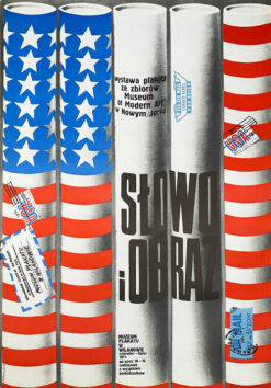 "Polish school of poster, Vintage movie poster PRL ""Słowo i obraz"", proj. Józef Mroszczak, 1975"