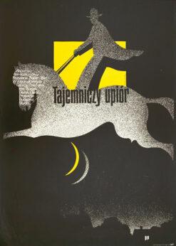 """Polish school of poster, Vintage movie poster PRL """"Tajemniczy upiór"""", proj. Mieczysław Wasilewski, 1977"""
