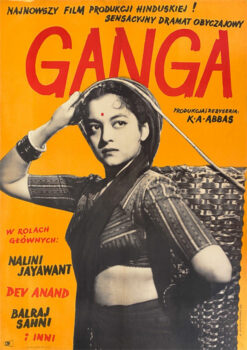 "Polish school of poster, Vintage movie poster PRL""Ganga"", proj. Zygmunt Anczykowski, 1957"