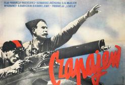 """Polska szkoła plakatu, plakat filmowy vintage PRL """"Czapajew"""", proj. Mieczysław Berman, 1954"""