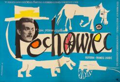 "Polish school of poster, Vintage movie poster PRL ""Pechowiec"", proj. Hanna Bodnar, 1959"