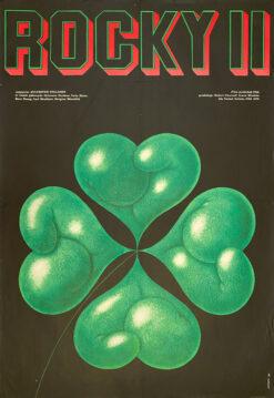 "Polish school of poster, Vintage movie poster PRL ""Rocky II"", proj. Edward Lutczyn, 1980."