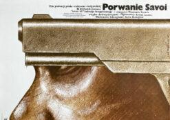 """Polska szkoła plakatu, plakat filmowy vintage PRL """"Porwanie Savoi"""", Lech Majewski, 1980"""