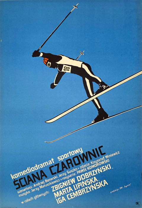 """Polska szkoła plakatu, plakat filmowy vintage PRL """"Ściana czarownic"""", Marian Stachurski, 1967"""