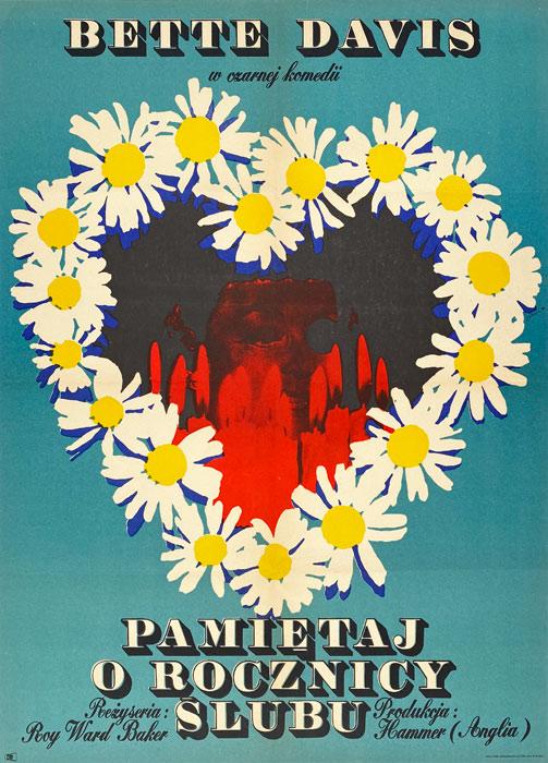 """Polska szkoła plakatu, plakat filmowy vintage PRL """"Pamiętaj o rocznicy ślubu"""" Maciej Żbikowski, 1970"""