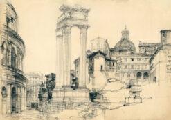 grafika: Rzym - Forum Romanum, proj. Henryk Dąbrowski