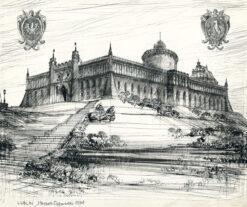 "grafika: ""Lublin - zamek"", proj. Henryk Dąbrowski"