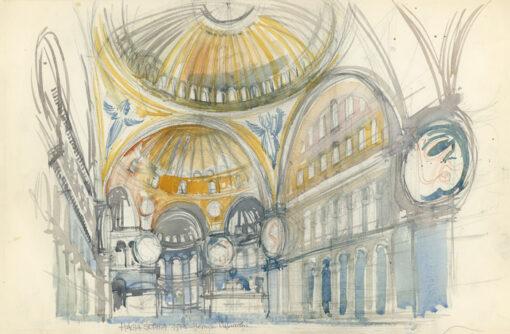 grafika: Stambuł - Hagia Sophia, proj. Henryk Dąbrowski