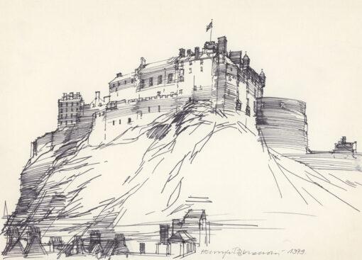grafika: Szkocja - Edynburg, zamek, proj. Henryk Dąbrowski