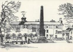 grafika: Szkocja - obelisk, proj. Henryk Dąbrowski