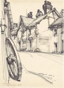 grafika: Szkocja - uliczka miejska, proj. Henryk Dąbrowski
