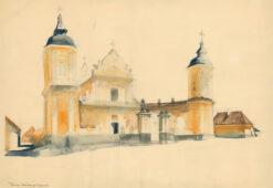 grafika: Kościół w Tykocinie , proj. Henryk Dąbrowski