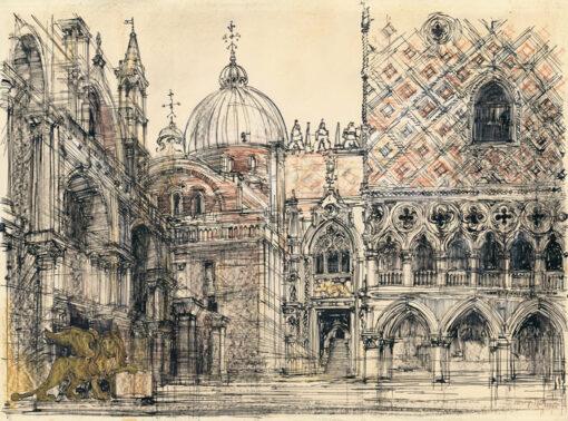 grafika: Wenecja - Palazzo Ducale, proj. Henryk Dąbrowski