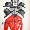 """Polska szkoła plakatu, oryginalny plakat filmowy vintage z okresu PRL """"Wyznania hochsztaplera Felixa Krulla"""", Jerzy Jaworowski, 1958"""
