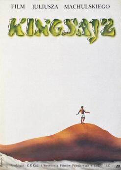 """Polska szkoła plakatu, plakat filmowy vintage PRL """"Kingsajz"""" Jerzy Rybarczyk, 1987"""