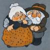 "Original illustration for a children's story: ""Kot Filemon"", Julitta Karwowska Wnuczak, 1987"