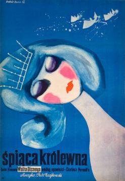 "Polska szkoła plakatu, plakat filmowy vintage PRL ""Śpiąca królewna"", proj. Hanna Bodnar, 1962"