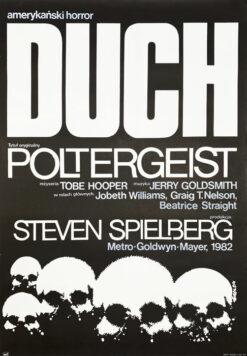 "Polska szkoła plakatu, plakat filmowy vintage PRL ""Duch"" Jakub Erol, 1984"