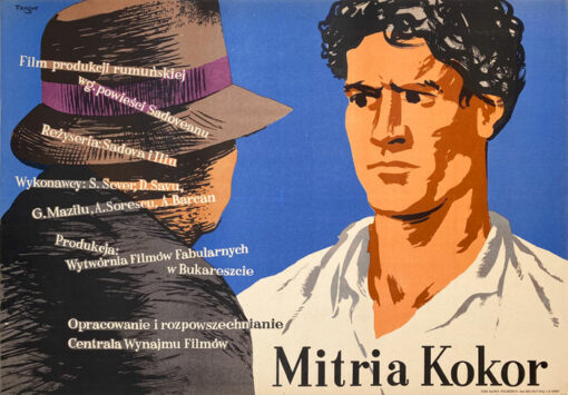 """Polska szkoła plakatu, plakat filmowy vintage PRL """"Mitria Kokor"""", Wojciech Fangor, 1953"""