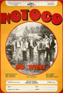 """Polska szkoła plakatu, plakat """"No To Co"""", 1970"""