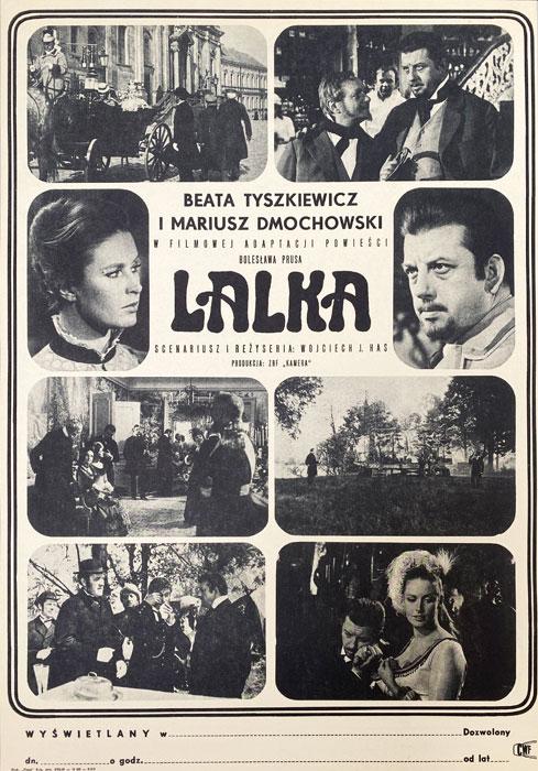 """Polska szkoła plakatu, plakat filmowy vintage PRL """"Lalka"""", 1968"""