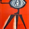 """Polish school of poster, Original vintage movie poster from PRL """"Takich dwóch jak nas trzech"""", Franciszek Starowieyski, 1958"""