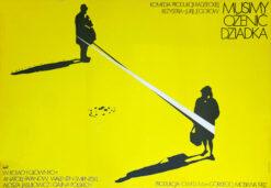 """Polska szkoła plakatu, plakat filmowy vintage PRL """"Musimy ożenić dziadka"""", Mieczysław Wasilewski, 1983"""