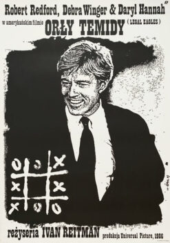 "Polska szkoła plakatu, plakat filmowy vintage PRL ""Orły Temidy"" Jakub Erol, 1987"