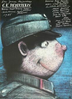 """Polska szkoła plakatu, plakat filmowy vintage PRL """"CK Dezerterzy"""" Andrzej Pągowski, 1985"""